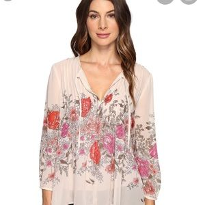 Joie flower silk blouse